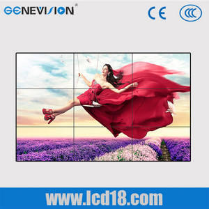 Wholesale advertising led: 55 Inch 3.5mm Bezel Flexible Digital Signage Advertising , 800cd / M2 LED Video Wall HDMI