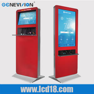 Wholesale wifi mobile phone: Floor Standing Wifi Touch Kiosk Digital Signage LCD Ad Player\