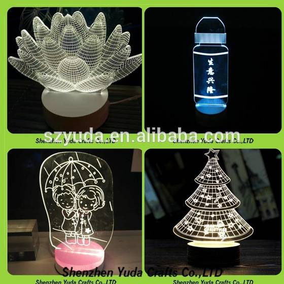led desk lamp: Sell manufacturer acrylic 3D night light Illusion LED Lamp