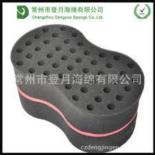 Wholesale Hair Curler: Double Sided with Big/Small Holes Ellipse Shaped Hair Twist Sponge/Cruls Hair Brush