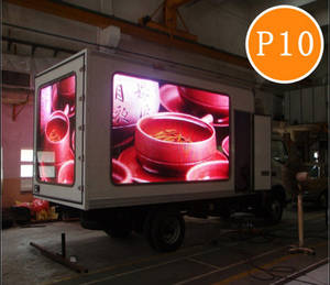 Wholesale advertising led: P10 Full Color Truck Mounted Moving Advertising LED Screen