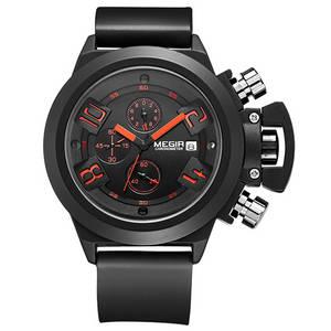 Wholesale wrist watch: MEGIR Quartz Strap Watch Male Waterproof Multifunction Wrist Watch