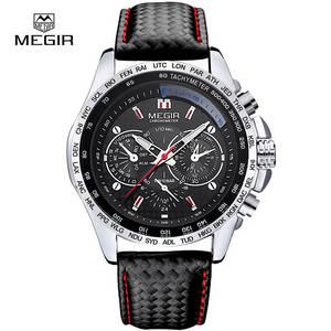 Wholesale quartz watch: MEGIR Quartz Strap Watch Waterproof Business Wrist Watch