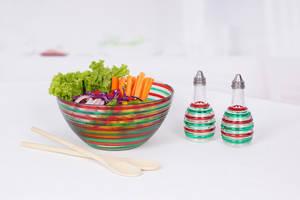 Wholesale salad bowl: Glass Salad Bowl Set