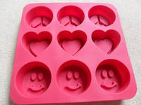 2012 Smile Shape Non-stick Silicone Ice Cube Tray