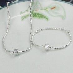 Wholesale jewellery set: Pandora Style Silver Jewellery Sets PPBN0012
