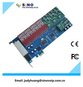 Wholesale VoIP Products: 12 Port Fxs/Fxo Voip Card, PCI Express Asterisk Card