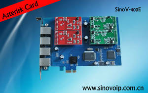 Wholesale voip adapter: High Quality Voip 4 Ports Asterisk Card Compatible Voip Adapter with Fxo/Fxs Module