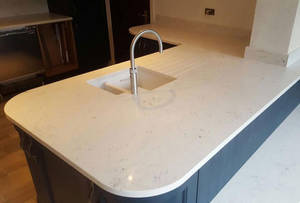 Wholesale Countertops, Vanity Tops & Table Tops: Quartz Stone Bench Top, Quartz Stone Dining Table Top with One Bowl