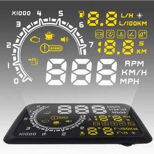 Wholesale Auto Meter: W02 Multifunctional OBD II Vehicle Car HUD Head Up Display System, Speeding(MPH/KMH), Rotati