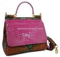 Sell Luxury Crocodile and Python Leather Handbag for Women
