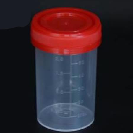 Disposable Plastic Urine Cup Container With Screw Cap Id