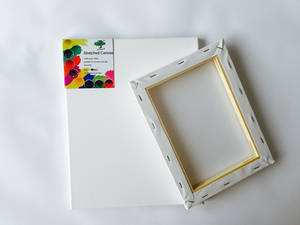 Wholesale oil painting: 160g/280g Cotton Stretched Canvas for Oil Painting