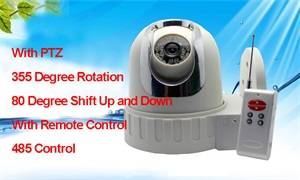 Wholesale led controller: 5.5 Inch PTZ Rotating Remote Control IR LED Ceiling Dome Monitoring Cameras