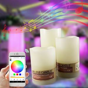 Wholesale smart phone: Bluetooth Contral Colorful LED Candle