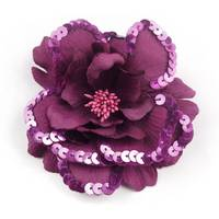 Sell Vintage purpal sequin flower hair clip