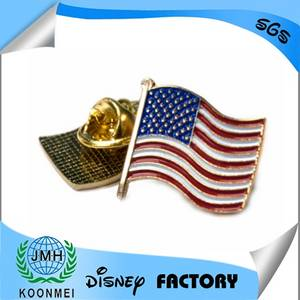 Wholesale Badge Holder & Accessories: Custom Metal Lapel Pins Metal Badge American Flag Emblem