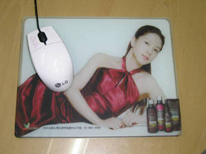 Wholesale printed desk pads: Tempered Glass Mouse Pad