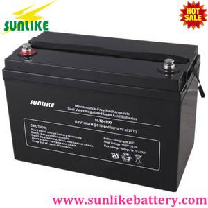 Wholesale ups battery: 12years Life 12V100ah AGM Deep Cycle UPS Solar Power Battery