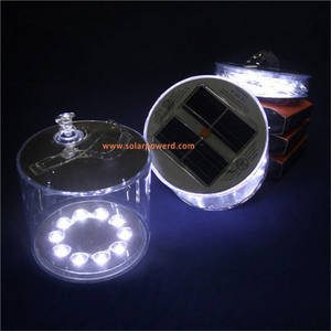 Wholesale Solar Energy Products: Classic Transparent Waterproof PVC Enclosure Suits All Weather Conditions Solar Inflatable LED Light