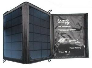 Wholesale solar cell: Black 10W Portable Solar Panel Charger  for Cell Phone
