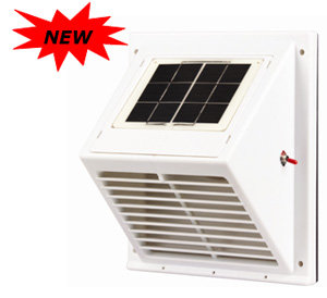 Solar Wall Fan With Rechargeable Battery From Solatron