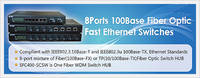 Fiber Optic Fast Ethernet  Switches
