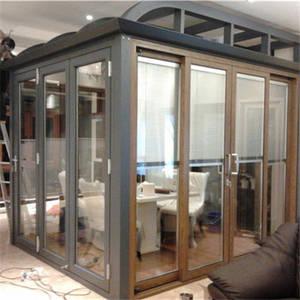 Wholesale glass door: Double Glass with Built in Blinds Motorized for Window and Door