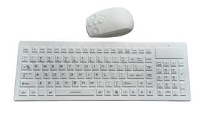 Wholesale healthcare: 2.4Ghz Wireless Black or White Medical Keyboard for Dental Healthcare