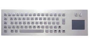 Wholesale keyboard with panel mounting: IP65 Panel Mounting Stainless Steel Industrial Keyboard with Touchpad