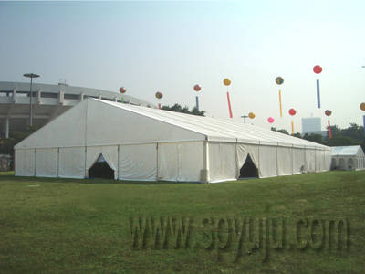 Sell flame retardant warehouse storage tent in aluminum frame
