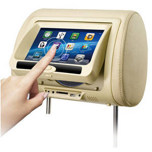 Wholesale lcd touch screen monitors: 7 Inch Car DVD Screen Headrest TFT LCD Monitor with Touch Screen