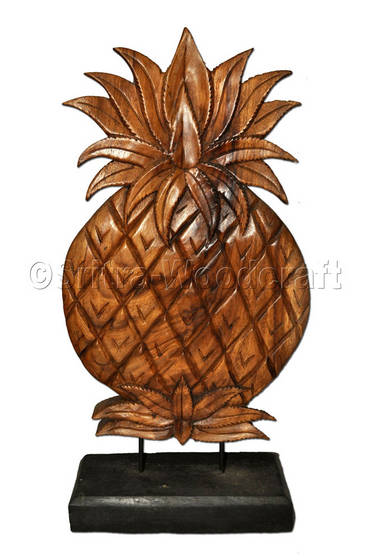 Sell pineapple panel decorative wood carving thailand for Pineapple carving designs