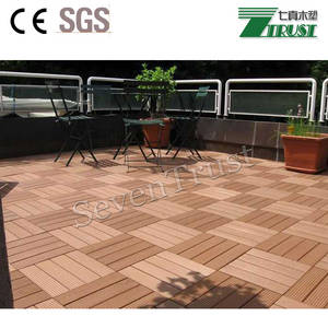 Wholesale safety mask: WPC Waterproof DIY Tiles for Outdoor Garden Decoration