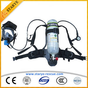 Wholesale military gas mask: High Quality SCBA Self-Contained Air Breathing Apparatus