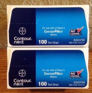Wholesale blood glucose test strips: Bayer Contour Next Blood Glucose Test Strips 100 I