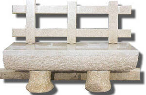 Wholesale mushroom slate: Stone Carving--Gareden Bench