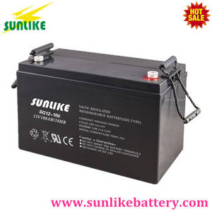 Wholesale solar power station: Solar Deep Cycle Rechargeable Gel Battery 12V100ah for Power Station