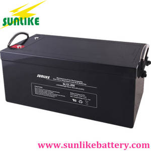 Wholesale ups battery: Rechargeable Deep Cycle Gel Battery 12V250ah for UPS Backup
