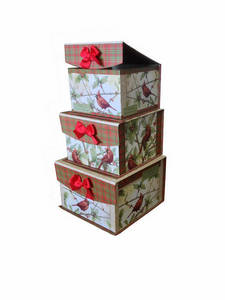 Wholesale gifts: Decorative Pattern Nesting Gift Box with Flipping Closure