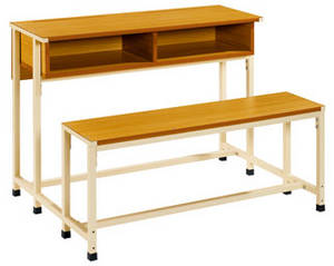 Wholesale School Furniture: School Double Furniture,School Furniture,School Desk and Chair, Student Desk and Chair, Classroom