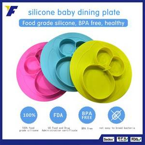 Wholesale silicone kids placemat: Cute Owl Dinnerware Silicone Kids Placemat with Suction