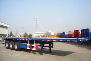 Wholesale flatbed side curtain: PANDA 3 Axle 40ft 55ton Flatbed Highbed Truck Trailer