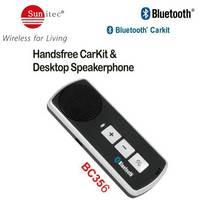 Bluetooth Stereo Handsfree Car Kit Visor Mount Drive in Car Speakerphone