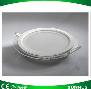 Wholesale Downlights: LED Glass Panel Light, Round, 18W, CE/EMC/LVD/Bis/SAA/C-tick