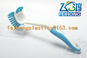 Wholesale Cleaning Brushes: Plastic Dish Brush Customized TPR Handle