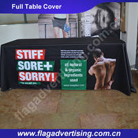 Factory Custom Advertising Trade Show Table Cloth, Table Throw, Table Cover