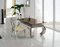 Hot Sales Modern Metal Glass Dining Table