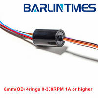 capsule Slip Ring with 8.3mm(OD) 4circuits 1A for CCTV,Robot, UAV,Rotary Table From Barlin Times