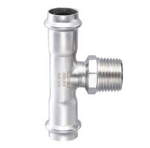 Wholesale Pipe Fittings: Stainless Steel T-Fitting with Male Thread